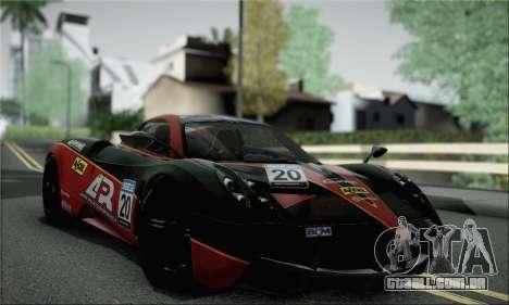 Pagani Huayra TT Ultimate Edition para GTA San Andreas vista traseira