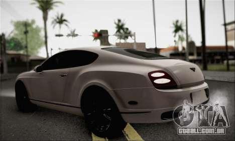Bentley Continental Supersports para GTA San Andreas esquerda vista