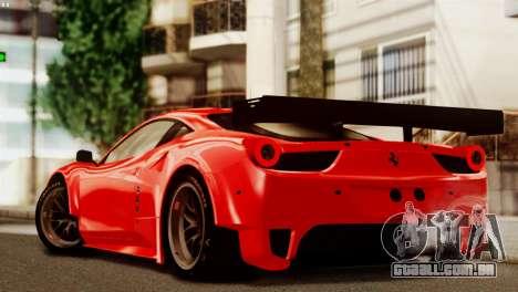 Ferrari 62 F458 2011 para GTA San Andreas vista inferior