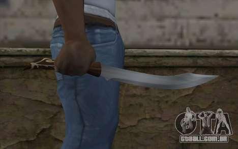 Faca de pedra para GTA San Andreas terceira tela