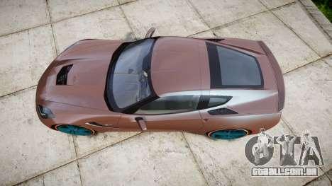 Chevrolet Corvette C7 Stingray 2014 v2.0 TireBr1 para GTA 4 vista direita