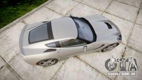 Chevrolet Corvette C7 Stingray 2014 v2.0 TireMi2 para GTA 4 vista direita