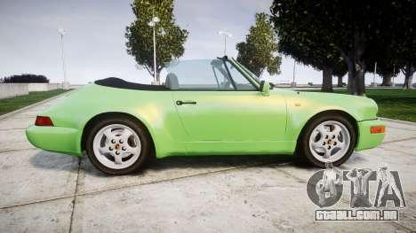Porsche 911 (964) Cabrio para GTA 4 esquerda vista