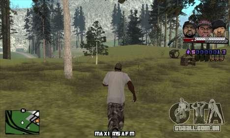 C-HUD Ice Rad Tyga para GTA San Andreas segunda tela