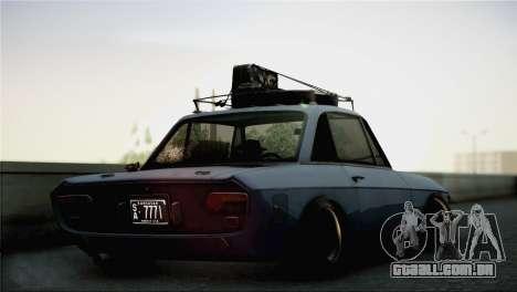 Lancia Fulvia para GTA San Andreas esquerda vista