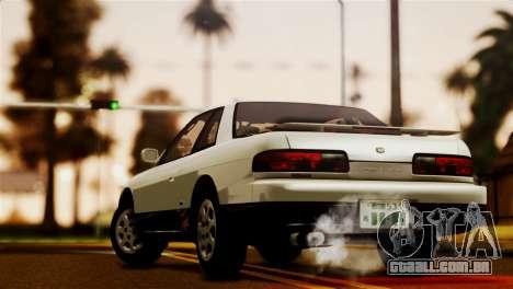 Nissan Silvia S13 1992 IVF para GTA San Andreas esquerda vista