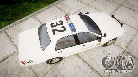 GTA V Vapid Police Cruiser Rotor [ELS] para GTA 4 vista direita