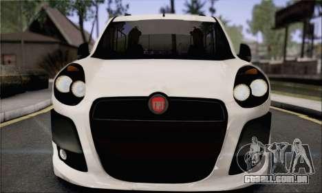 Fiat Doblo 2010 Edit para GTA San Andreas traseira esquerda vista