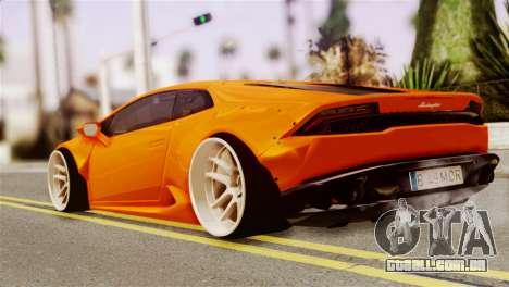 Lamborghini Huracan LB para GTA San Andreas esquerda vista