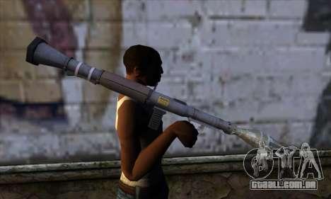 RPG from GTA 5 para GTA San Andreas terceira tela