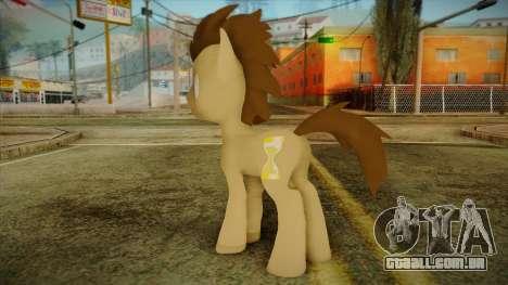 Doctor Whooves from My Little Pony para GTA San Andreas segunda tela