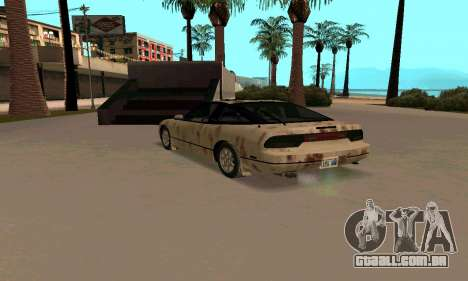 Nissan 240SX Rusted para GTA San Andreas traseira esquerda vista