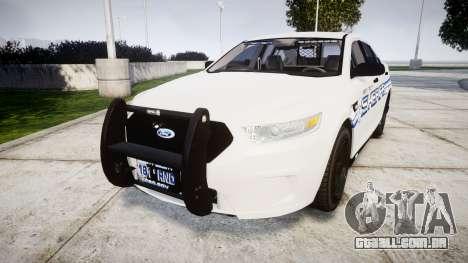 Ford Taurus 2014 [ELS] Liberty County Sheriff para GTA 4