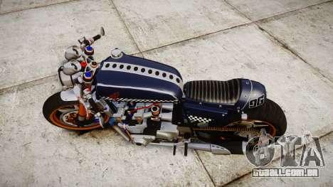 Honda CB750 cafe racer para GTA 4 vista direita