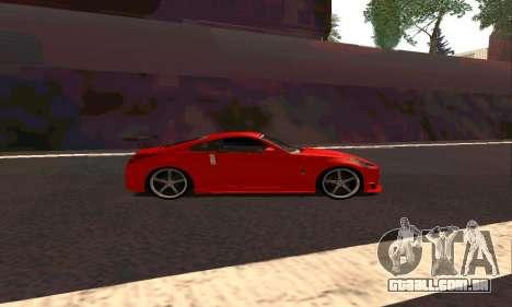 Nissan 350Z Tune para GTA San Andreas traseira esquerda vista