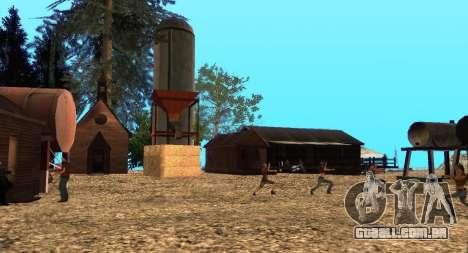 O Altruísta acampamento no monte Chiliad para GTA San Andreas nono tela