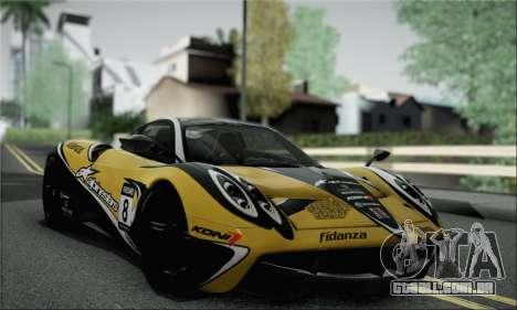 Pagani Huayra TT Ultimate Edition para GTA San Andreas vista direita