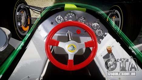 Lotus 49 1967 green para GTA 4 vista de volta