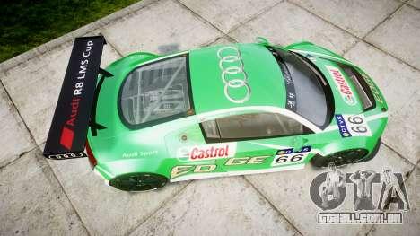 Audi R8 LMS Castrol EDGE para GTA 4 vista direita