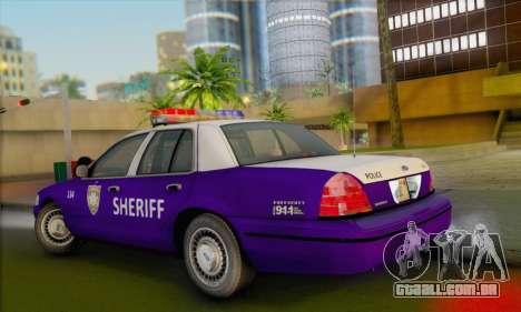 Ford Crown Victoria 1999 Walking Dead para GTA San Andreas esquerda vista