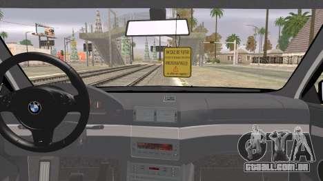 BMW 520d E39 2000 para GTA San Andreas traseira esquerda vista