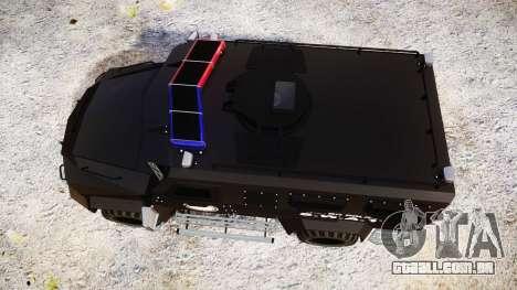 SWAT Van Metro Police [ELS] para GTA 4 vista direita