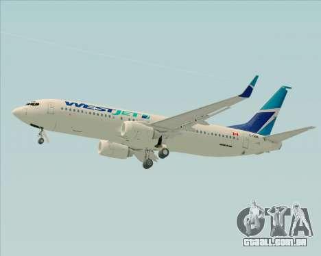 Boeing 737-800 WestJet Airlines para GTA San Andreas vista superior