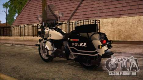 GTA 5 Police Bike para GTA San Andreas esquerda vista