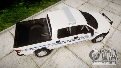 Ford F-150 [ELS] Liberty County Sheriff para GTA 4 vista direita