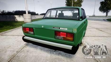 VAZ-2107 inferior para GTA 4 traseira esquerda vista