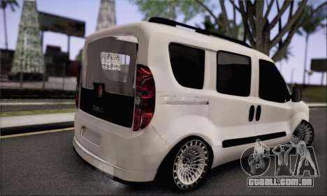 Fiat Doblo 2010 Edit para GTA San Andreas esquerda vista