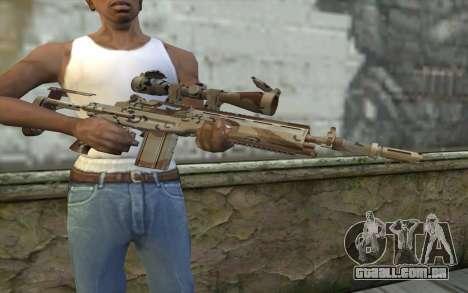 M14 EBR Chipdesert para GTA San Andreas terceira tela