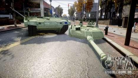 Leopard 2A7 EU Green para GTA 4 vista de volta