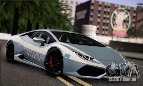 Lamborghini Huracan LP610-4 2015 para GTA San Andreas vista traseira