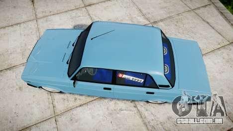 VAZ-2107 melhor modelo para GTA 4 vista direita
