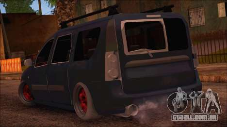 Dacia Logan MCV Tuning para GTA San Andreas esquerda vista