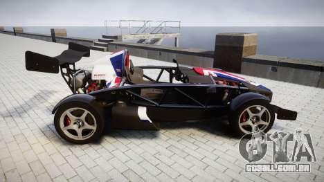 Ariel Atom V8 2010 [RIV] v1.1 S&A para GTA 4 esquerda vista