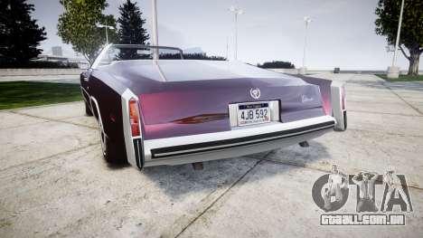 Cadillac Eldorado 1978 para GTA 4 traseira esquerda vista