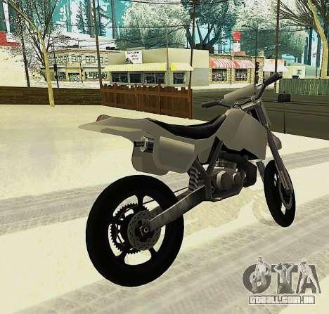 Sanchez SuperMoto para GTA San Andreas esquerda vista