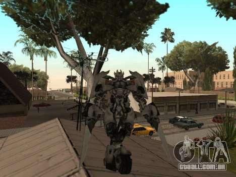 Transformers 3 Dark of the Moon Skin Pack para GTA San Andreas por diante tela