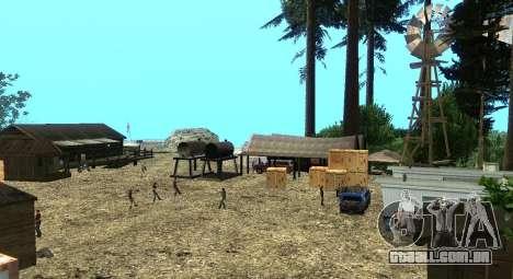 O Altruísta acampamento no monte Chiliad para GTA San Andreas sétima tela