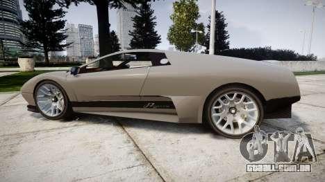 Pegassi Infernus Carbonerra para GTA 4 esquerda vista