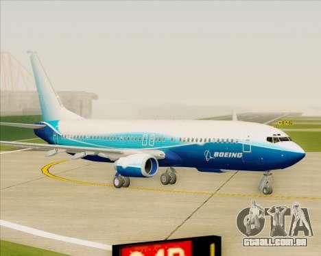 Boeing 737-800 House Colors para GTA San Andreas esquerda vista