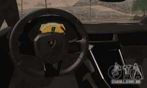 Lamborghini Veneno LP750-4 White Black 2014 para GTA San Andreas traseira esquerda vista