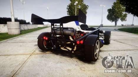 Ariel Atom V8 2010 [RIV] v1.1 Sheriftizer para GTA 4 traseira esquerda vista