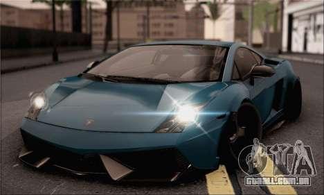 Lamborghini Gallardo Superleggera 2011 para GTA San Andreas