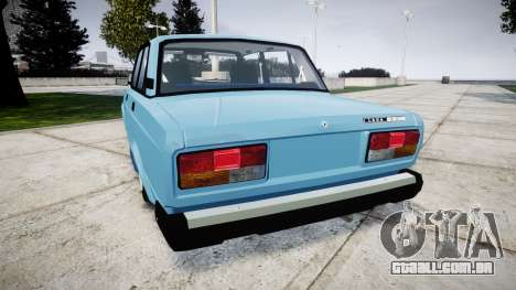 VAZ-2107 melhor modelo para GTA 4 traseira esquerda vista