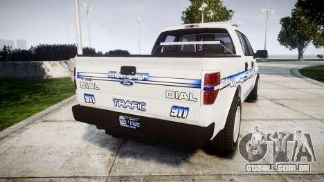 Ford F-150 [ELS] Liberty County Sheriff para GTA 4 traseira esquerda vista