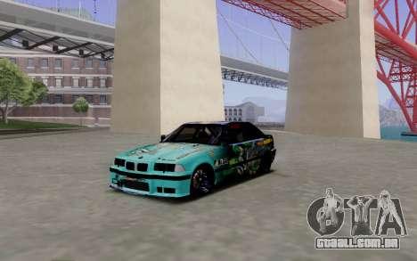 BMW M3 E36 Gorilla Energy Team para GTA San Andreas esquerda vista