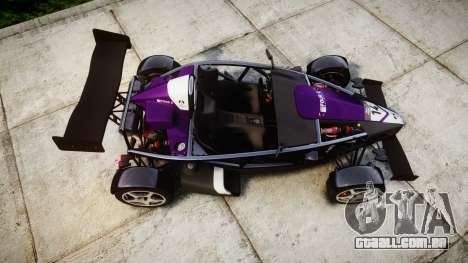 Ariel Atom V8 2010 [RIV] v1.1 FOUR C Motorsport para GTA 4 vista direita